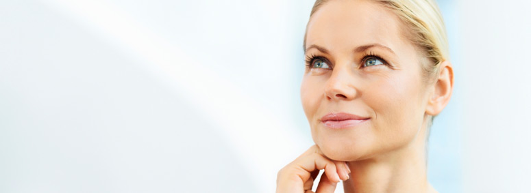 dermal fillers edmonton - woman with a beautiful face